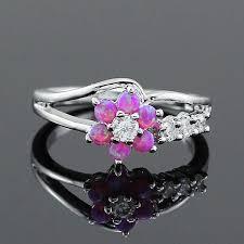 fire opal rings images Flower fire opal rings the window shopping jpg