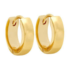 boy earrings buy men style best quality classic plain 316l gold stainless steel
