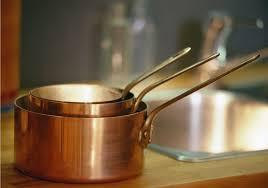 batterie de cuisine en cuivre le revival des ustensiles de cuisine en cuivre