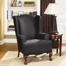 2 Piece Wing Chair Slipcover Queen Anne Chair Covers Foter