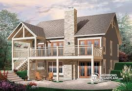 house plans with rear view house plan w3941 detail from drummondhouseplans com