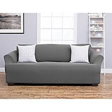 Charcoal Slipcover Sofa Covers U0026 Furniture Slipcover Collections Bed Bath U0026 Beyond