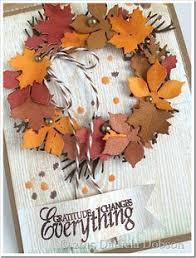 fall wreath thanksgiving card cards cricut forums card