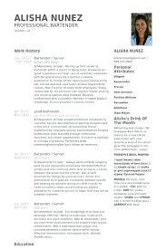bartender resume format professional bartender resume tomyumtumweb
