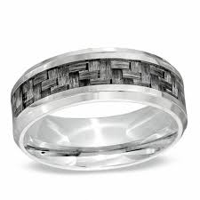 mens stainless steel wedding bands men s 8 0mm comfort fit grey carbon fiber stainless steel wedding