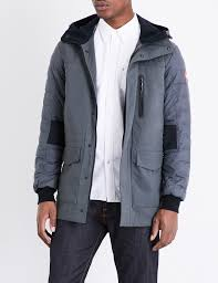 canada goose selwyn down filled shell jacket in gray for men lyst