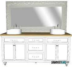 Vanities With Drawers Double Vanity With Center Drawers Free Plans Sawdust
