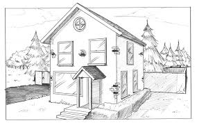 Home Drawings House In Two Point Perspective By Albinogrimby Perspective