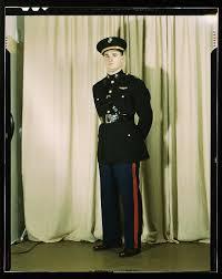 marine corps captain in dress blue uniform w orld w ar ii loc