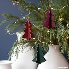 3d paper tree ornaments lia griffith