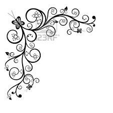 Flowers Designs For Drawing Cool Black And White Drawings Frame Clip Art Black And White