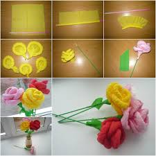 Make Flower With Paper - how to diy easy napkin paper flowers paper flowers napkins and