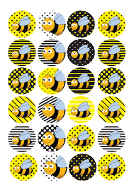 bumblebee decorations 24 edible cake toppers decorations bumblebee bee insect new baby