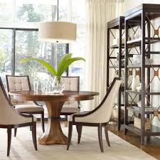dining room small dining table design with black round tabletop