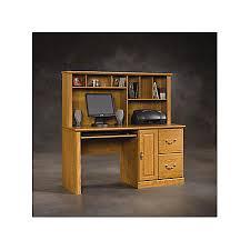 sauder orchard computer desk with hutch carolina oak sauder orchard computer desk carolina oak by office depot