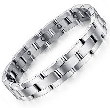 titanium steel bracelet images New fashion design hematite men titanium steel bracelet boys hand jpg