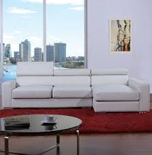 Modern White Bonded Leather Sectional Sofa White Bonded Leather Sectional Sofa Tos Bvt B2186
