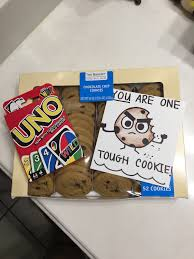 get better soon gift ideas get well soon gift idea one tough cookie uno cards cookies