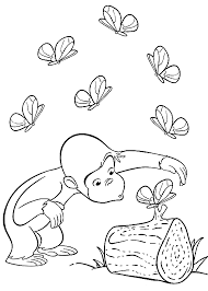 free curious george coloring pages printable curious george