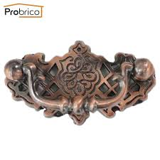 probrico furniture antique drawer knob zinc alloy brushed copper