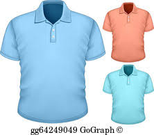 vector art men u0027s polo shirt design template clipart drawing