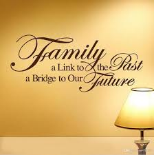 family a bridge to our future black vinyl wall lettering stickers see larger image
