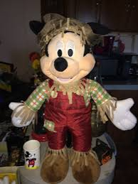scarecrow halloween decorations mickey mouse scarecrow halloween decoration gemmy holiday greeter