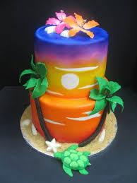 Tropical Themed Cake - sunrise and sunset themed cakes u2013 crustncakes online cake