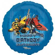 transformers birthday 5 x transformers prime happy birthday 18 foil balloon