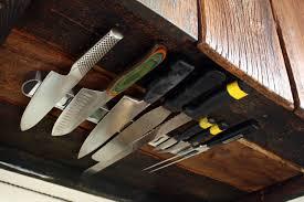 terrific under cabinet knife storage rack 121 ultimate kitchen