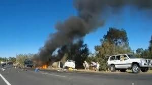 car crash wa horror car ramming caught on video
