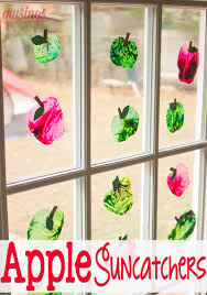 apple suncatcher craft for kids living well mom