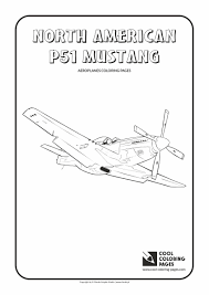 north american 51 mustang coloring cool coloring pages