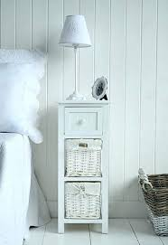 Small White Side Table Bedside Tables For Small Spaces Small Bed Side Tables Narrow