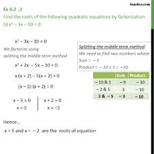 Factoring Trinomials Of The Form Ax2 Bx C Worksheet Answers Solve The Following Quadratic Equation By Factoring X 2 3x 10 0