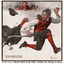 cousin reginald catches the thanksgiving turkey 12 1 1917 norman