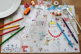 jeux gratuit de mariage télécharger des sets de table à colorier pour les enfants set de