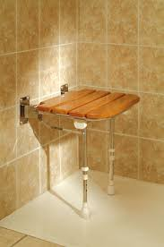 Fold Down Shower Bench Fold Up Wooden Slatted Seat With Legs Shower Seats Wall Mounted