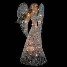 lighted christmas yard angels amazon com northlight 48 led lighted white glitter angel christmas