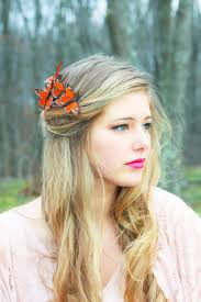 butterfly hair butterfly hair comb orange monarch hair comb on luulla
