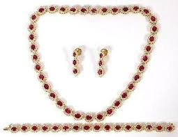 ruby diamonds necklace images Gia 67 20ct no heat ruby diamond necklace bracelet earrings JPG