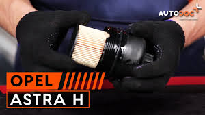 how to replace engine oil and oil filter on opel astra h tutorial