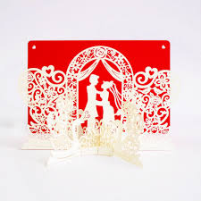 Invitation Card Marriage 50pcs Romantic 3d Pop Up Cards Wedding Mandarin Duck Prince And