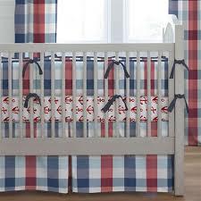navy and red buffalo check crib bedding carousel designs