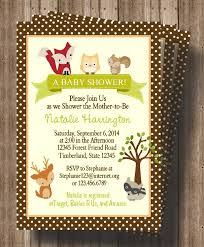 baby shower invitations amazing woodland creatures baby shower
