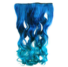 teal hair extensions agptek 26 enstyle supreme neon tangle curly 100