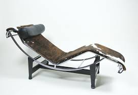 authentic cassina le corbusier lc4 cowhide chaise lounge chair