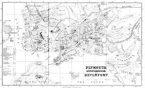 Plymouth England Map by Genuki Plymouth Devon