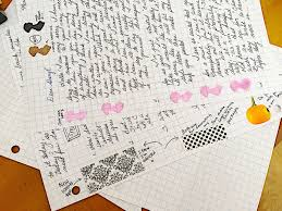 Writing On Graph Paper The Lost Art Of Letter Writing Revived Vellum Envelope Letter
