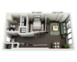 One Bedroom Apartment Layout Floor Plans And Pricing For Delray Tower Apartments Alexandria